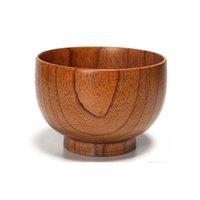 그릇 9 / 10 / 13cm 단단한 나무 라운드 그릇 나무 디저트 샐러드 파스타 수프 현미 주방 용품 TB 판매