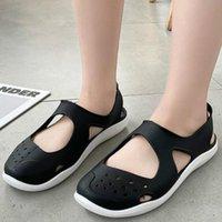 Sandals Akexiya Soft Flat Women Summer Beach Shoes Out Mesh Casual Jelly Female Slip On Footwear Sandalias Mujer