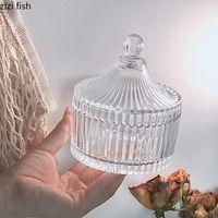 Lagerflaschen Gläser Kreative Kerzenschale Kristallglas Glas Süßigkeit Kleine Schmuckkasten Halter Küchenbehälter