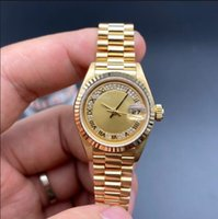 إمرأة فاخر ساعة رومين الماس الطلب 69178 26 ملليمتر مكبر كبير للماء ميكانيكيا الذهب الأصفر الصلب سوار كلاسيكي الياقوت الساعات