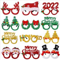 Christmas decorations children's toys Santa Claus snowman antler glass Clothes cotton decoration glasses Arts and Crafts Gift for Adult Kids Small Xmas Tree