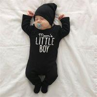 Bambino Pagliaccetto Black Letter Stampato Bambini Tuta Bambino Neonato Baby Boys Manica Lunga Bambino Cute Baby Infant Boy Designer Vestiti FJ151 103 Y2