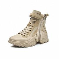 Winter Snow Boots Женский Большой Размер Хлопчатобумажные Обувь Короткие Трубы Теплые Дамы Лодыжки Сапоги Натуральная Кожа Зимние Женщины Муха Сапоги Skechers Bo M8HR #