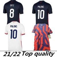 2021 Vereinigte Staaten Fussball Jerseys Away 2022 Pulisic Dest McKennie Reyna Adams Weah Musah Llletet Männer Kinder Kit Fussball Shirts Thailand MAILLOT DE FOOT