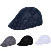 الرجال شبكة مسطحة القبعات القبعات نقية اللون جوفاء شبكة قبعة قناع قنوات الشمس الصيف