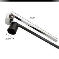 Cubierta de vela de acero inoxidable Metal Killer Snuffer Wick Trimmer Herramienta Apagado Fuego en Bell Fácil de usar Alta calidad para la venta KKB4972