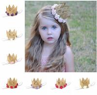 귀여운 신생아 미니 레이스 왕관과 장미 꽃 머리띠 아기 소녀에 대 한 크라운 생일 파티 헤어 액세서리 키즈 선물 A1534