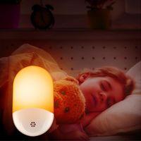 Night Lights LED Plug In Light Dusk To Dawn Automatic Pocell Sensor Lamps With Adjustable Brightness For Bedroom Bedside Lamp
