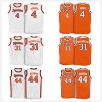Billy Owens 31 Dwayne Perle Syrakuse Orange 4 Rony Seikaly 44 Derrick 1991 Herrenstickerei genäht Basketball Jersey Benutzerdefinierte