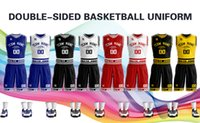 Men's Tracksuits Custom Personalize Basketball Jersey Double-side Print Team Any Name& Number for Birthday Fans Gifts Men Youth