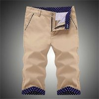 2019 Estate New Capris Slim Fit Pantaloncini da 7 punti Pantaloni da uomo Pantaloni da spiaggia