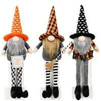 Dostawy imprezowe Dekoracje Halloween Gnomes Doll Plush Handmade Tomte Szwedzki Longged Dwarf Tabeli Ozdoby Dzieci Gifts CS10