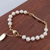 Braccialetto per perla 4 colori Braccialetto per perline popolare moda donna Signora Strass Obit Braccialetto regalo per amore fidanzata Accessori gioielli moda