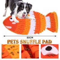 Dogs Snuffle Mat Chew Toys Washable Treats Puzzle Feeding Pad Pet Interactive Toy Indoors Intelligence Training Sniffing Fish Shapes