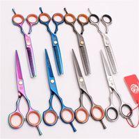 """Forbici per capelli 2 PZ 5.5 """"16 cm Purple Dragon Taglio taglio Teredinga Aradamento di barbiere Parrucchiere professionale Z1004"""