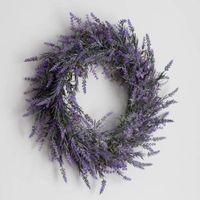 Декоративные цветы венки поддельные лаванды висит венок гирлянда для рождественской рождественской вечеринка свадебное украшение высокого качества изысканный D