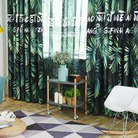 Curtain & Drapes Tropical Rain Forest Modern Minimalist Plant Tulle Velvet Linen Print Shading Curtains For Living Dining Room Bedroom