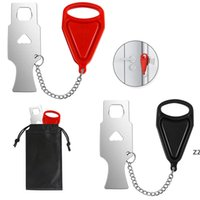 Segurança De Metal Portable Self-Defense Stopper Porta Bloqueio Compatível Viagem Anti Roubo Privacidade Privacidade Hotel Quarto Home HWD8445