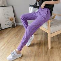 ichoix الركاد الصيف النساء sweatpants pantalon فام سليم الكورية نمط السراويل النساء عالية الخصر ulzzang سروال رصاص t200421