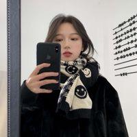 Zrsn coreano otoño e invierno hecho punto cara cálida bufanda cálida para estudiantes
