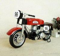 SM Iron Metal Racing Motorrad Modell Spielzeug, Retrostil handgefertigte Ornament, für Weihnachtskind-Geburtstagsgeschenke, Sammeln, Heimdekoration, SMT5174