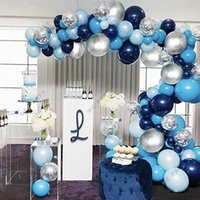 102pcs 새로운 레트로 색상 해군 파란색 풍선 아치 갈 랜드 키트 베이비 샤워 웨딩 하와이 파티 생일 ballons globos 장식