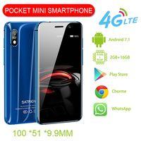 Unlocked Mini Google Play-Handys Ultra Slim 3.4 '' 2 GB RAM 16 GB ROM Android Smartphon Dual SIM-Karte 4G LTE Super kleine GPS WIFI-Mobiltelefon PK S9