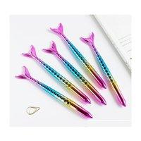 Kawaii caneta esferográfica sereia caneta mar empregada de empregada bonito escritório escritório escrita suprimentos moda meninas presente jllmln luta2010