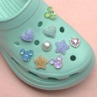 Scarpe Accessori 1 Pz Crystal Star Croc Charms Charms Dolci Jibz Accessori Cloc Cucles Fibbia Cute Decorations Braccialetti Bambini regalo J0619