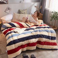 Simple Design Pure Color Comforter Warm Winter Fabric Polyester Filling Thickening Bed High Quality Filler filling Blanket