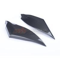 Motorrad schwarz Tank Side Panels für Yamaha YZF R6 2017 2018 2019 2020 Full Carbon Fiber 100% Twill