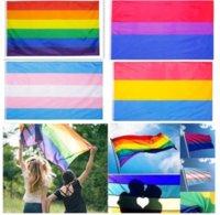 قوس قزح العلم راية 3x5ft 90x150 سنتيمتر مثلي الجنس يهز أعلام البوليستر لافتات الملونة lgbt مثليه الإستعراض الديكور