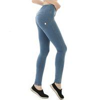 Casual Freddy Sexy Skinny Butt Leggings Bodycon Low Taille Denim Push Up Hip Bleistift Hosen Jeans WW6R