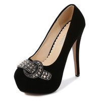 드레스 신발 큰 크기 35-46 얕은 입 펌프 연회 결혼식 쇼 쇼 여성 하이힐 14cm 섹시한