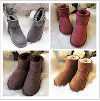 2021 Лучшая зимняя шерстяная обувь мужчины женщина дизайнер роскошные сапоги Neumel замшевые классические NewM ремни случайные теплые мини-загрузки каштановый размер US35-US44
