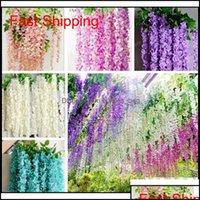 Outros suprimentos Pátio, Garden Garden Garden20 PCs / Saco Misturado Flor Sementes Roxo Amarelo Branco Wisteria Plantas Decorativas Indoor Flow qy