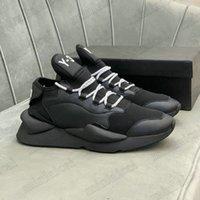 Y-3 Kaiwa حذاء رياضة الرجال مصمم الأحذية Y3 مكتنزة منصة الأحذية أسود أبيض جلد شبكة المدربين الرياضة عارضة الأحذية