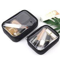Storage Boxes & Bins Waterproof Transparent Cosmetic Bag Women Make Up Case Travel Zipper Clear Makeup Beauty Wash Organizer Bath Toiletry B