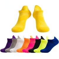 Men's Socks 1pair Sport Nylon Outdoor Basketball Bike Running Breathable Non-Slip Candy Color No Show