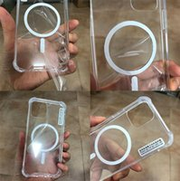 Transparent Mobile Phone Cases Wireless Magnetizing Magnetic Silicone Protective Cover For IPhone 13 12 mini Pro 12Pro Max 11 XR Xs X P30 P40