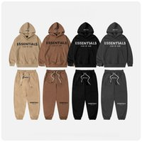 ESSENTIALS god Big Kids Christmas 2pcs Clothing Sets tracksuits hoodie hoodies Pullover+pant outfits children designer girls boys Fashion Sweatshirt Set