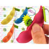 Squeeze Bohnen Keychain Zappeln Sojabohnenspielzeug Finger Puzzles Fokus Extrusion Erbse Anhänger Anti-Angst Stress Relief Dekompression Spielzeug H25XS0G