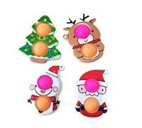 Yeni Noel Tatil Partisi Fidgety Oyuncaklar Push Stres Dayanıklı Karikatür Basit Demple Yumuşak Duyusal Yeniden Kullanılabilir Sıkma Toptan