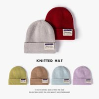 Unisex Adult Beanie Solid Colors Men Women Warm Winter Hat Fleece Linging