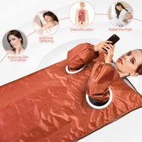 Alta Qualidade Infravermelho Afravermelho de Sauna Abstrato de Slimming Estimula a máquina de tonificação do corpo do músculo Máquina de terapia de desintoxicação com 2 mangas