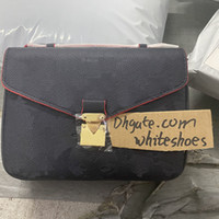 الكلاسيكية الطباعة زهرة رسول حقيبة جلد حقيقي المرأة حقيبة يد pochette metis اليد حقائب محفظة أكياس crossbody الكتف M40780