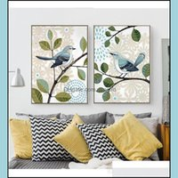 Arts, Crafts Gifts & Garden Retro Country Style Paintings Butterfly Inseparable King Bird Posters Canvas Art Print Painting Wall Pictures Fo