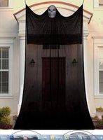 Suministros de fiesta Decoraciones de Halloween Fantasma colgante de miedo con iluminación con control de sonido espeluznante para interiores / exteriores Decoración de patio XBJK2108