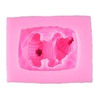 케이크 도구 3D 귀여운 졸린 아기 모양의 수지 주조 금형 대형 명확한 DIY 실리콘 액세서리 액세서리 만들기 핑크