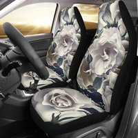 Front Seat Cover Protector Rose Flowers Trendy Stretch Bucke...